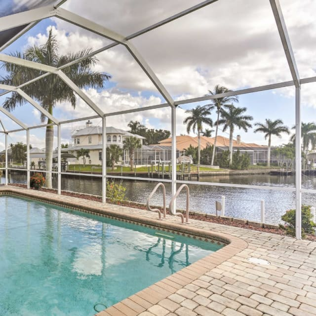 Vacation rental home with a pool in Fort Meyers, Florida
