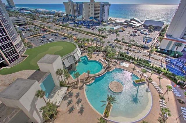 Aerial view of Panama City, Florida