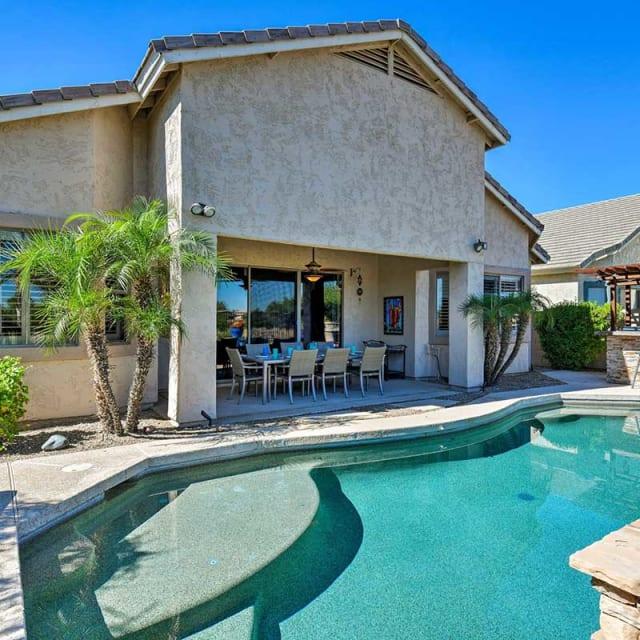 Vacation rental home and pool in Phoenix, Arizona