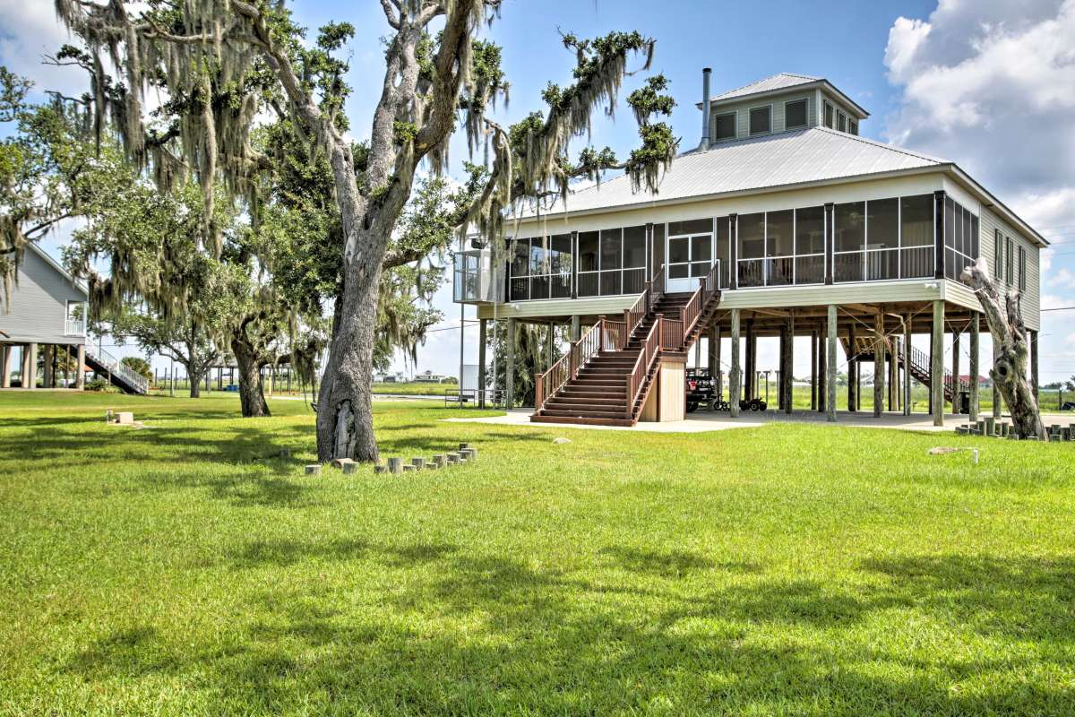 Slidell Home W Fishing Pier Outdoor Living Bbq