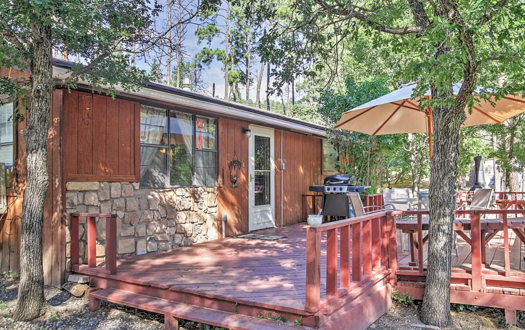 Relaxing Pet Friendly Ruidoso Cabin W Hot Tub