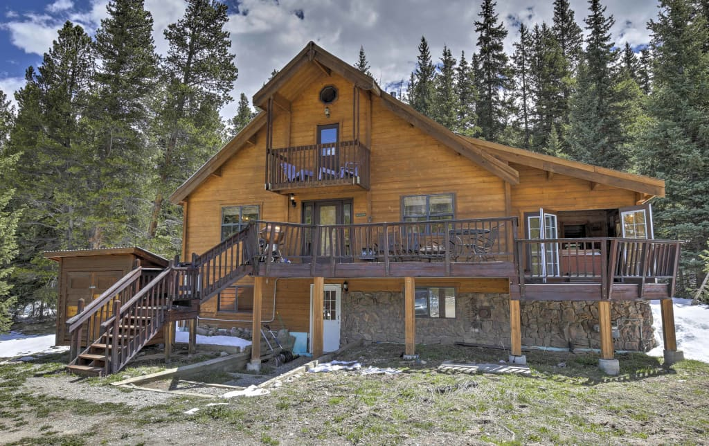 2BR +Loft Breckenridge Cabin W/Mtn Views U0026 Hot Tub