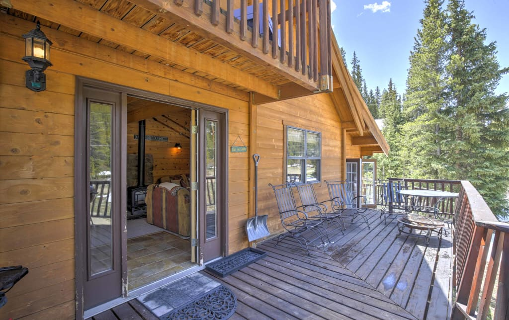 loft cabin w vacation homeaway rental views mtn breckenridge cabins