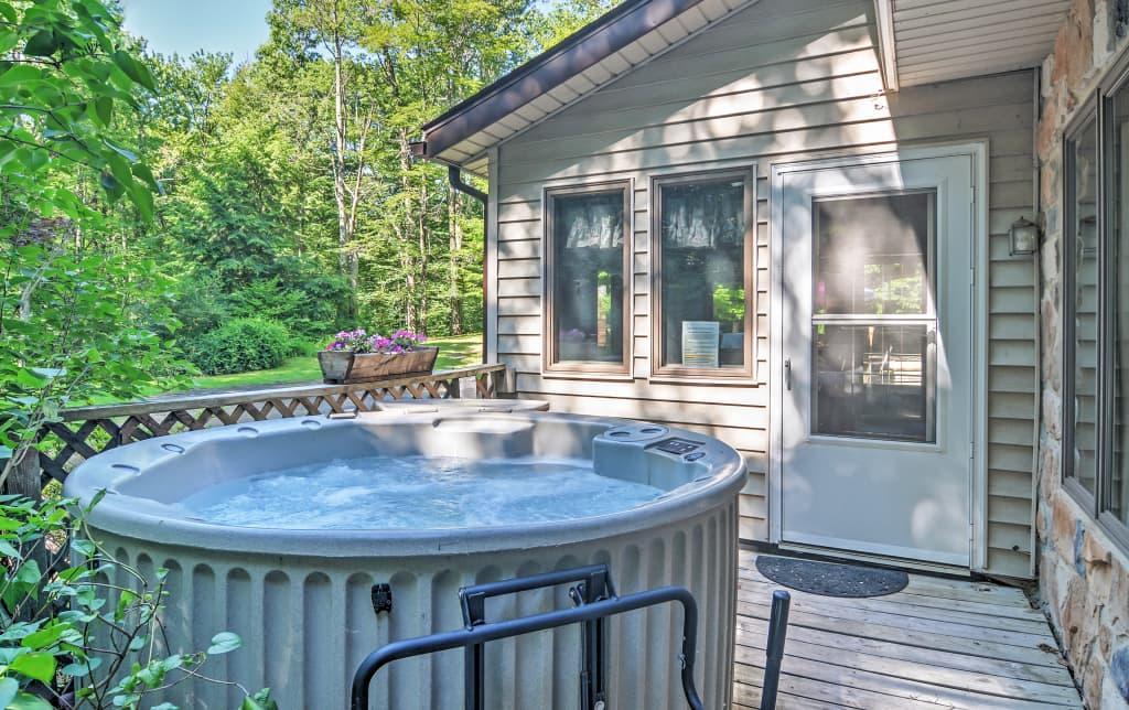 pennsylvania poconos resorts for rentals cabin vacation ski in log near cabins sale the