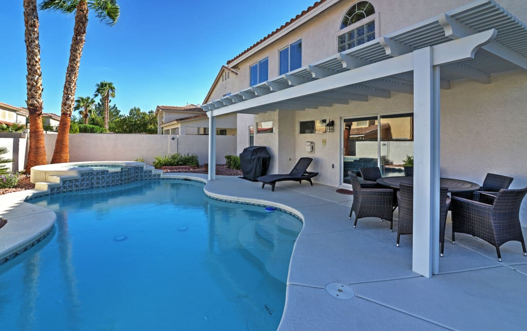 5br Las Vegas House W Private Heated Pool