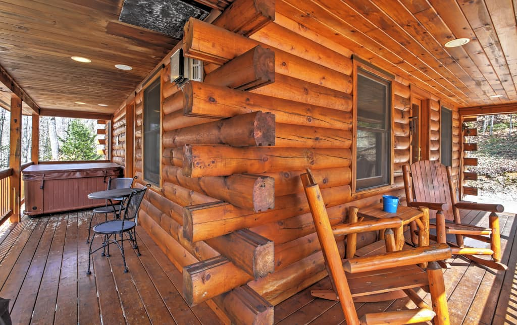 Incredible 3Br North Conway Log Cabin W Private Hot Tub Interior Design Ideas Gentotryabchikinfo