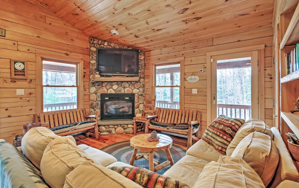 Phenomenal 3Br North Conway Log Cabin W Private Hot Tub Interior Design Ideas Gentotryabchikinfo