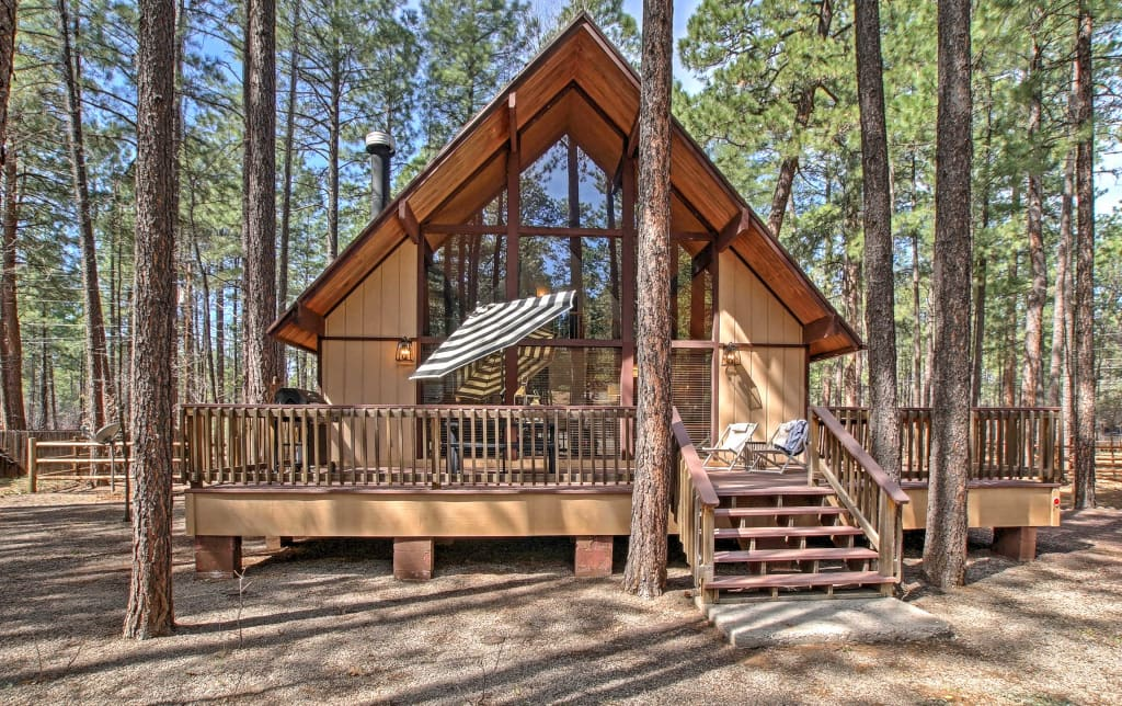 mountain white cabins rental uncategorized pinetop bunkhouse protected rentals cabin arizona