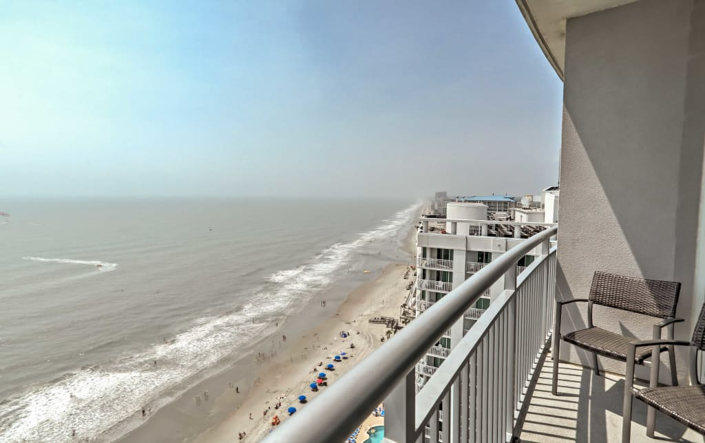 Astonishing 2Br Oceanfront Myrtle Beach Penthouse Condo Home Interior And Landscaping Mentranervesignezvosmurscom