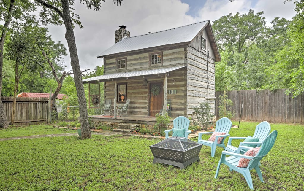 texas country hill cabins fredericksburg pin b rustic tx