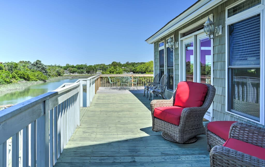 Fine Waterfront North Myrtle Beach Home W Floating Dock Home Interior And Landscaping Ologienasavecom