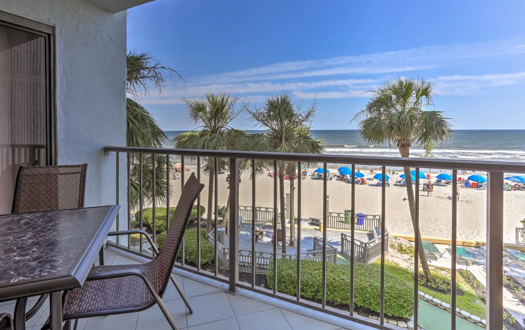 Swell Oceanfront Myrtle Beach Condo W Balcony Pool Home Interior And Landscaping Mentranervesignezvosmurscom