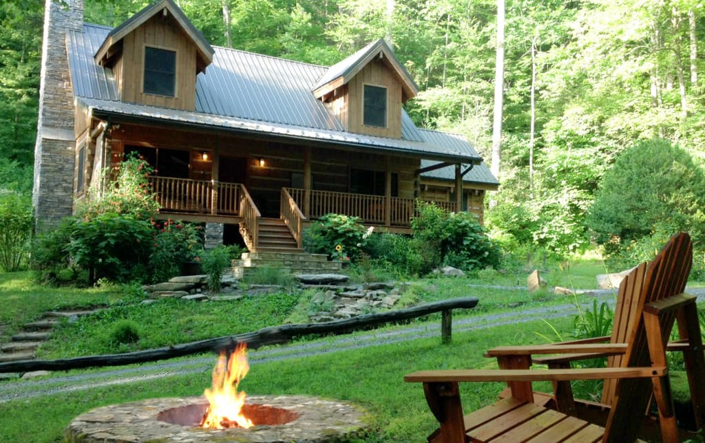 Secluded Cabin On Creek 150 Acres Near Asheville