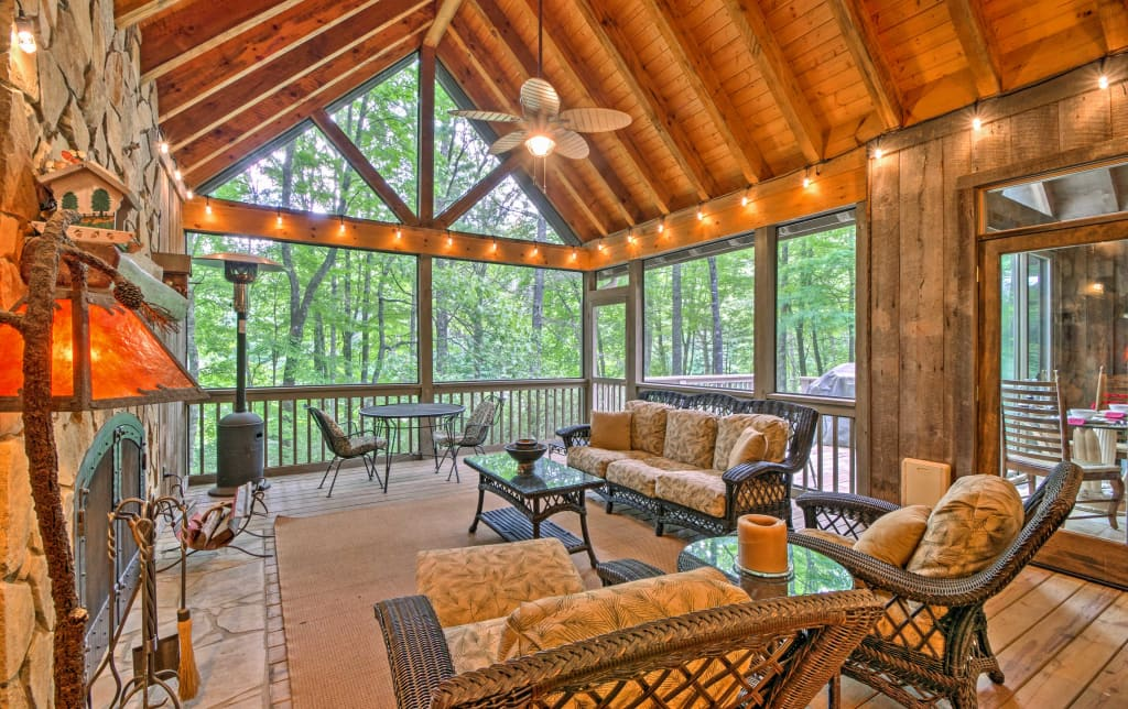 Sapphire House W Screened In Porch Forest Views