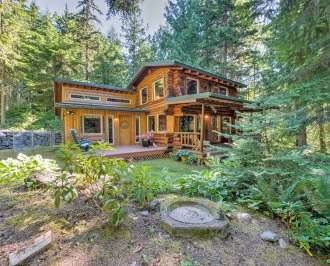 Rustic 3br Sequim Cabin W Fire Pit Forest Views