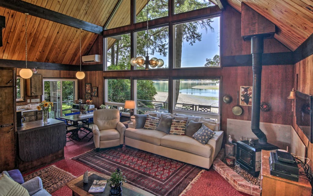 Waterfront Gig Harbor Cabin W Puget Sound Views
