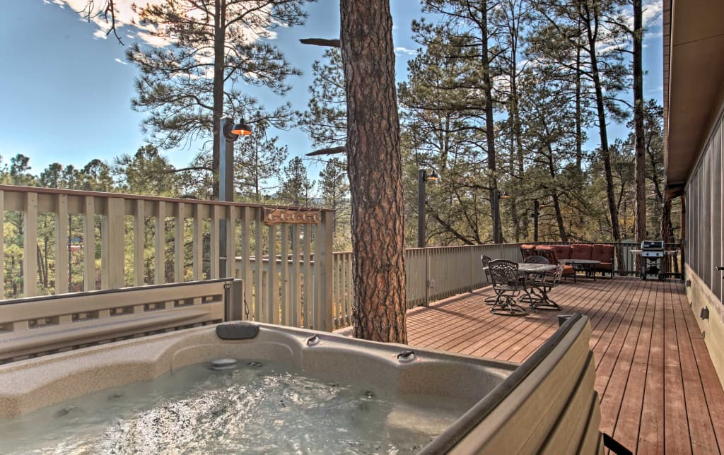 Exceptional Ruidoso Cabin W Hot Tub Mtn Views