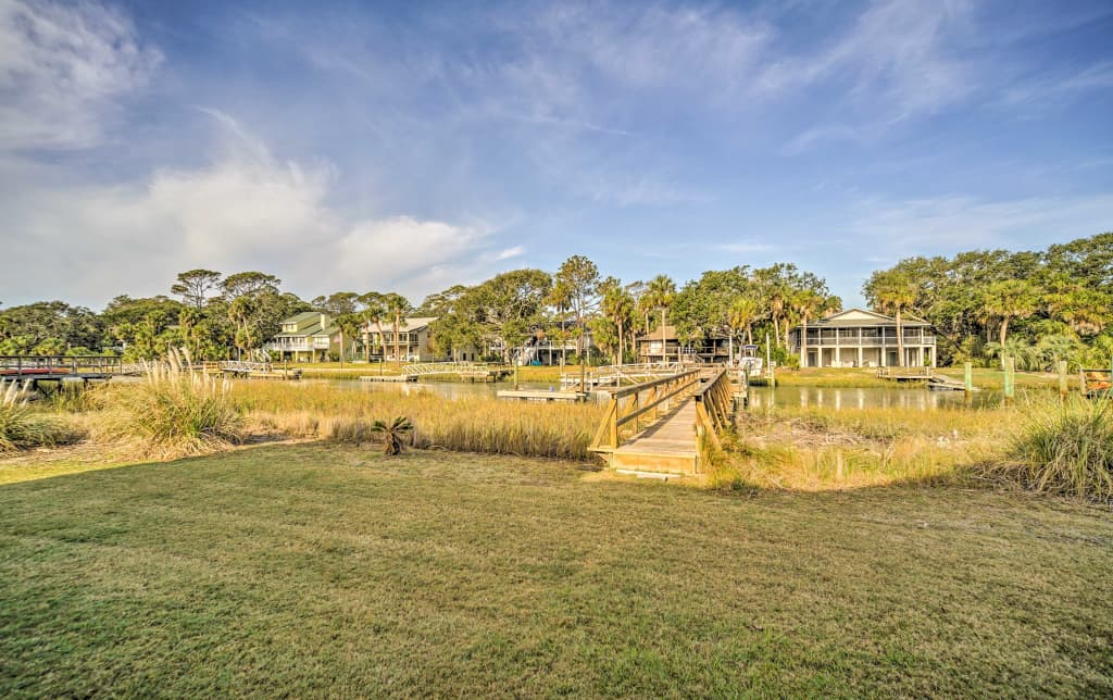 Fripp Island Home Wprivate Dock Walk To Beach