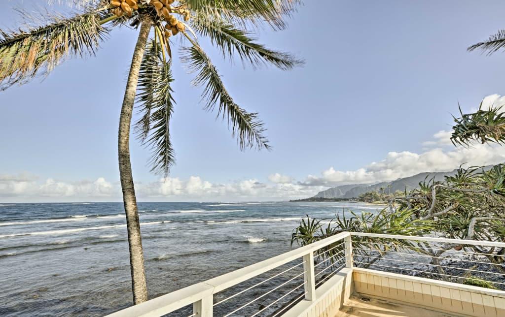 5e28944472 Oceanfront 'Plumeria' Apartment near Hau'ula Beach