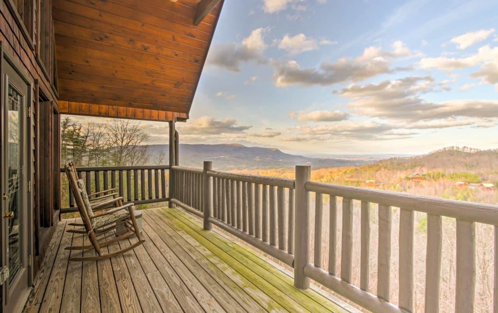 Rustic Sevierville Mtn Cabin W Views 2 Decks