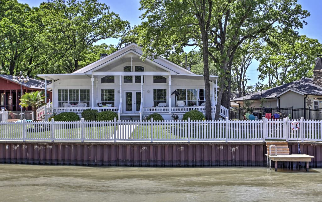 Terrific New Dream Cedar Creek Lake House W Huge Deck Home Interior And Landscaping Transignezvosmurscom