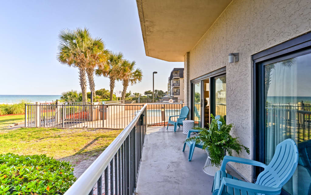 Pleasing Oceanfront Myrtle Beach Condo W Patio Pools Beutiful Home Inspiration Cosmmahrainfo