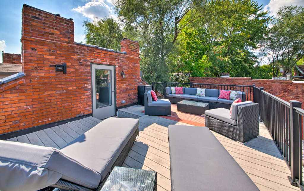 New St Louis Townhome Wrooftop Deck 8 Min To Dt