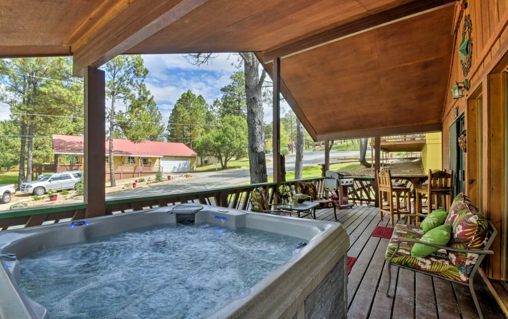 New Ruidoso Cabin W Hot Tub Golf Course Views