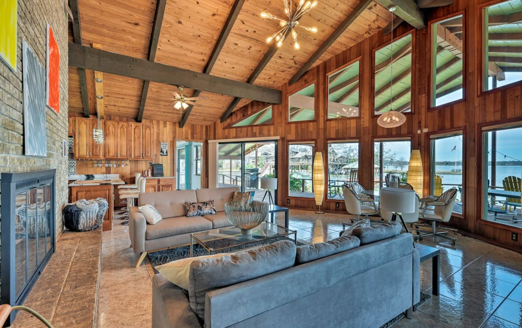 Enjoyable New Cedar Creek Lake Home W Waterfront Deck Dock Home Interior And Landscaping Ologienasavecom