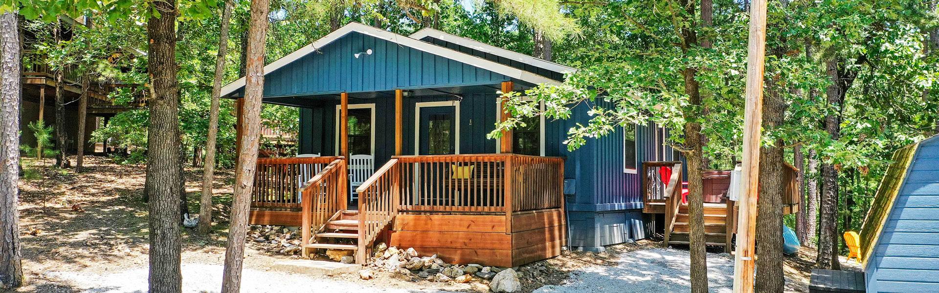 A cabin in Broken Bow, OK.