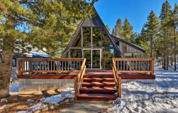 A-frame cabin, one of many types of cabins to consider before buying.
