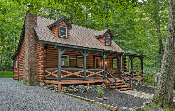 Log cabin deep in the woods, a classic in many of the best places to buy a cabin.