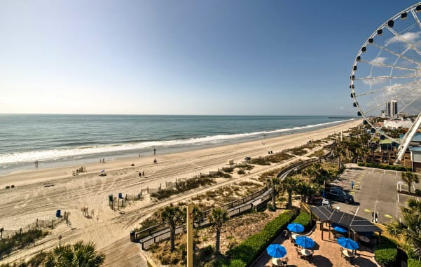 Stop in Myrtle Beach on your family road trip and play in the surf.