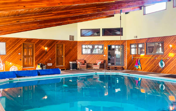 Family vacation rental with private indoor pool