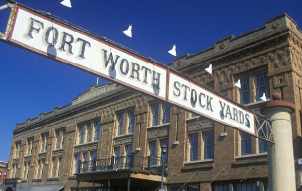 Sign at the Fort Worth Stockyards in Fort Worth, TX