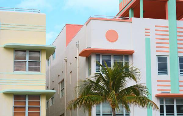 Art Deco buildings in Miami's famous Art Deco Historic District