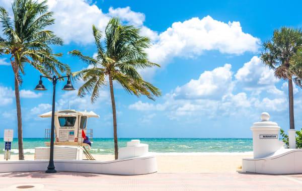 Sebastian Street Beach in Fort Lauderdale, Florida