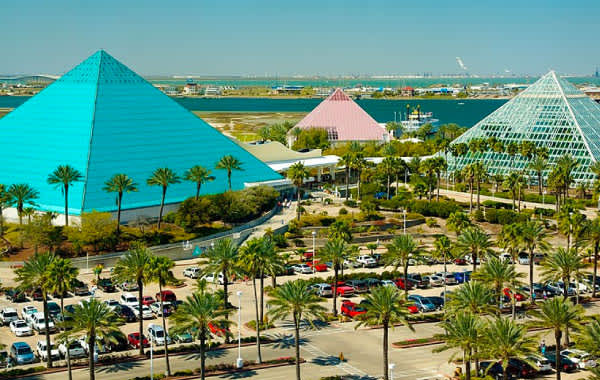 Exterior picture of Moody Gardens in Galveston, TX