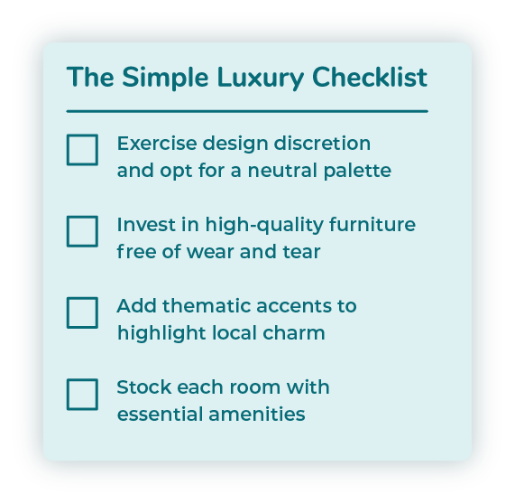 The Simple Luxury Checklist