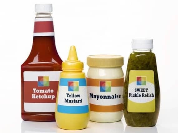 condiiments kitchen ketchup mustard