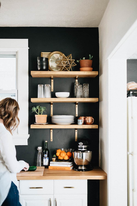 remodel kitchen shelves storage