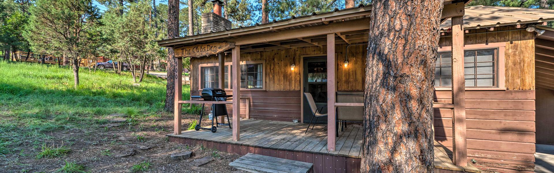 A cabin in Ruidoso, NM.