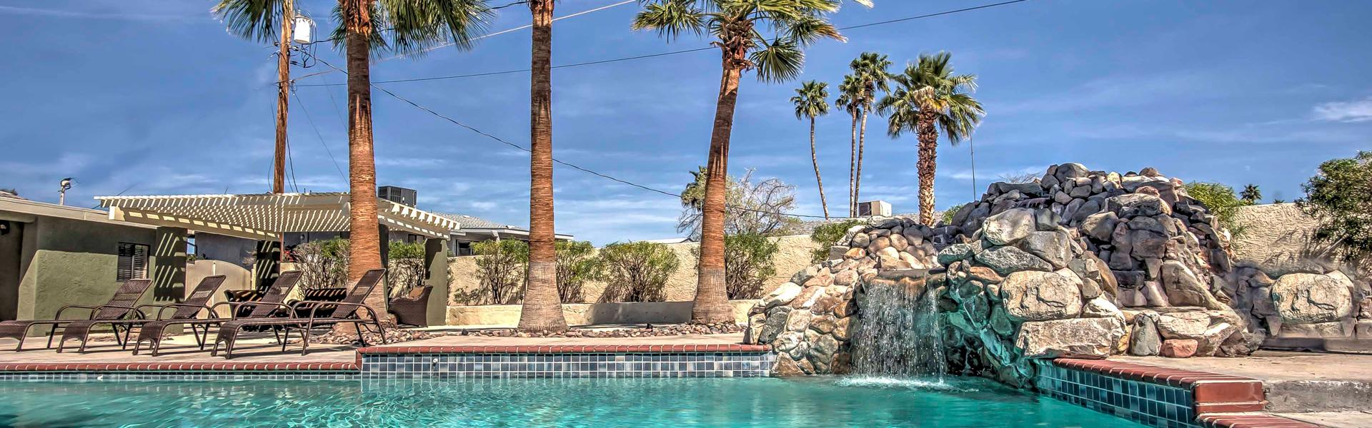 A poolside view in Lake Havasu City, AZ.