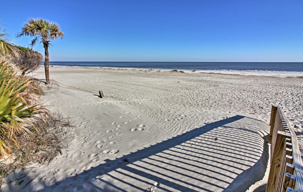 Hilton Head's pristine white sand beaches make for a relaxing stop on your family road trip.