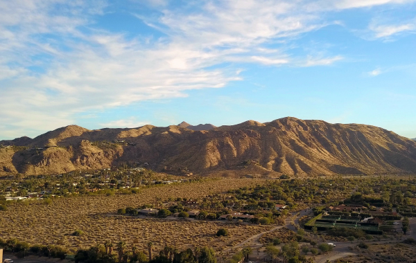 View of mountains in Palm Springs, CA