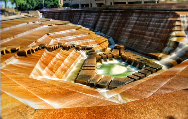 The Water Gardens in Fort Worth, Texas