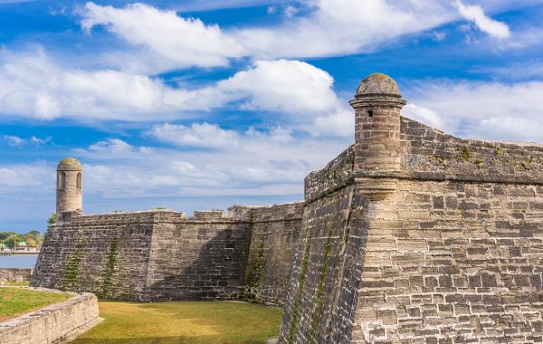 Castillo de San Marcos Fort in St. Augustine, Florida