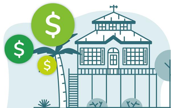 Myrtle Beach vacation rental illustration
