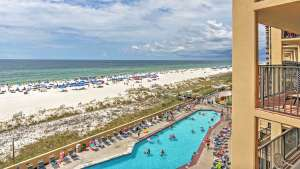 view of gulf shores & orange beach with pool
