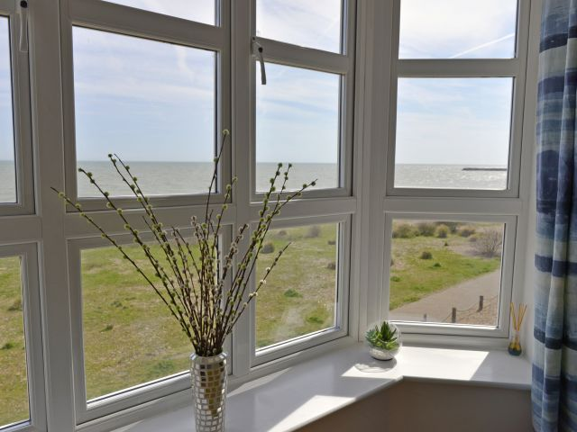 Sea views through lounge window